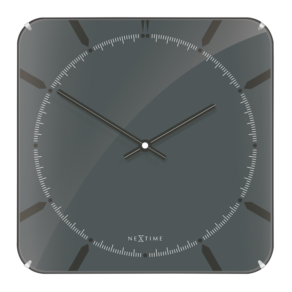 Buy Michael Square Dome Wall Clock Grey Online Purely