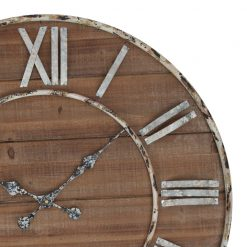 Close up of Antique iron Wooden Wall Clock