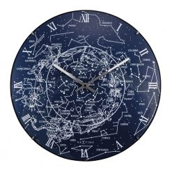 Round Wall Clock with Milky Way Design