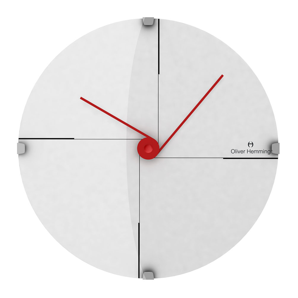 Buy Minimal 30cm Domed Glass Wall Clock Online Purely