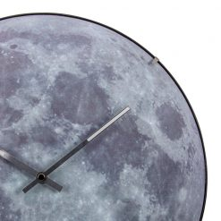 Zoomed in of Moon Dome Wall Clock