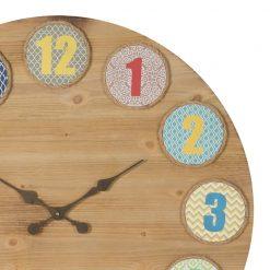 Zoomed in of Nash Retro Large Wooden Decor Clock