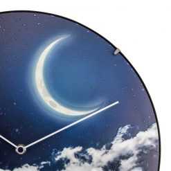 Zoomed in of Wall Clock with Moon Design