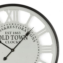 Zoomed in of Old Town Roman Numerals Wall Clock