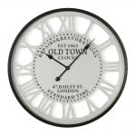 Old Town Roman Numerals Wall Clock