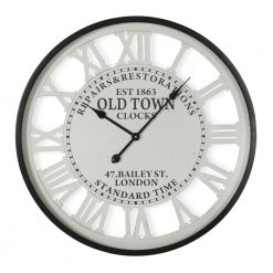 Round Old Town Roman Numerals Wall Clock