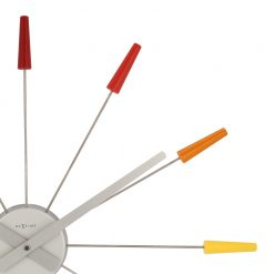 Closed up of Colorful Pin Wall Clock with White Hand