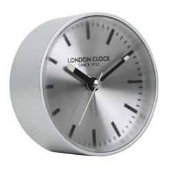 Round Quatro wall clock in silver