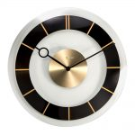 Retro Glass Wall Clock Black