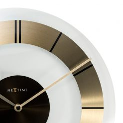 Zoomed in of Round Gold Wall Clock