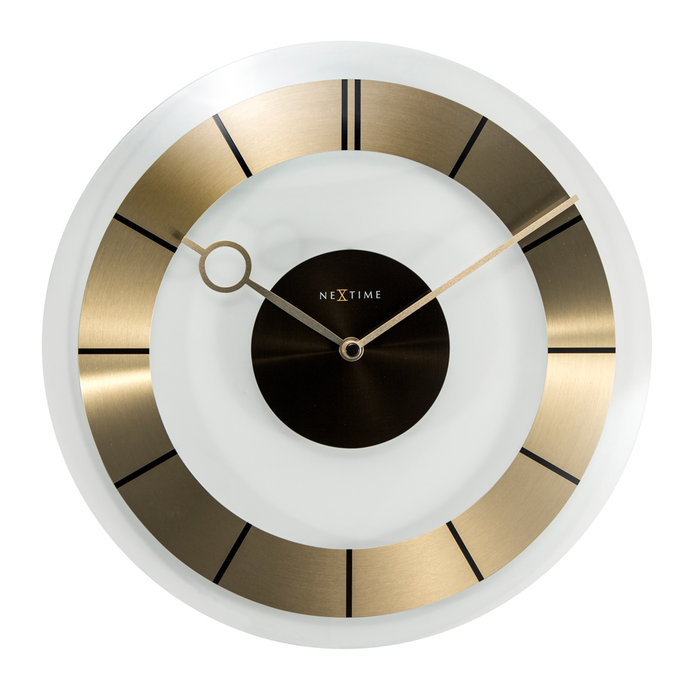 Buy Retro Glass Wall Clock Gold Online Purely Wall Clocks