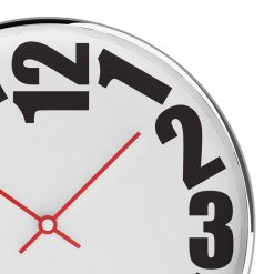 Zoomed in of Rounded 40cm Steel Wall Clock