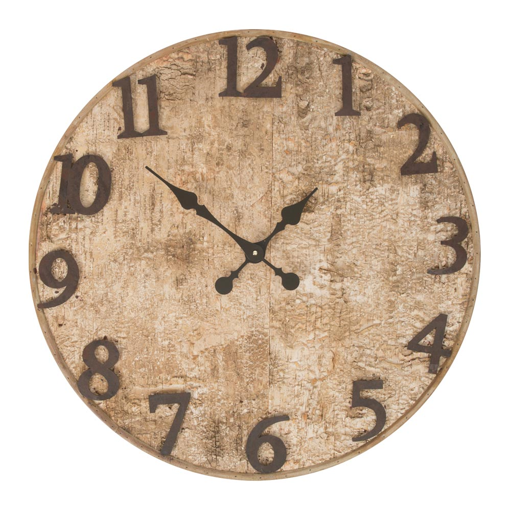 wooden wall clock buy seymour birch bark wooden wall clock purely