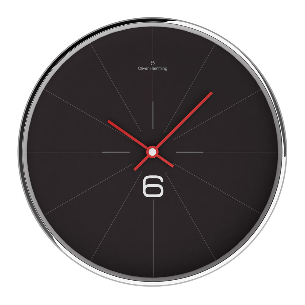 Simple wall clock online buy simple six 30cm chrome steel wall clock black online purely amipublicfo Images