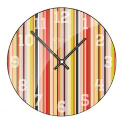 Round Wall Clock with Colorful Pattern