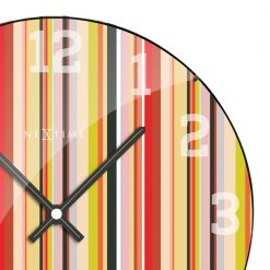 Zoomed in of Colorful Wall Clock