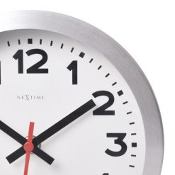 Zoomed in of White Wall Clock