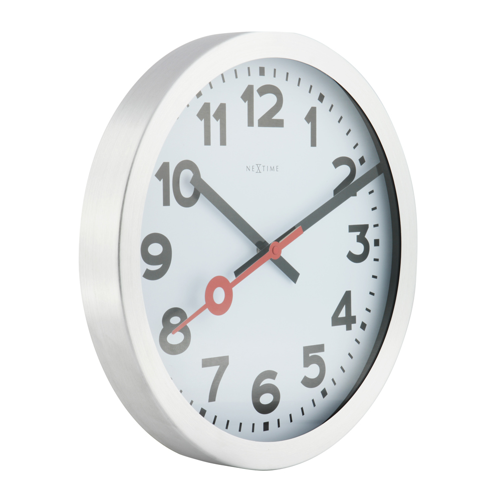 Buy station radio controlled wall clock white online purely wall station radio controlled wall clock white 573999arb03 amipublicfo Image collections