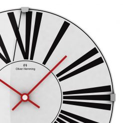 Close up of Stretched 30cm Domed Glass Wall Clock