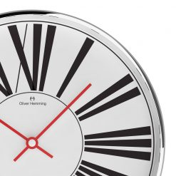 Close up of Stretched 40cm Steel Wall Clock