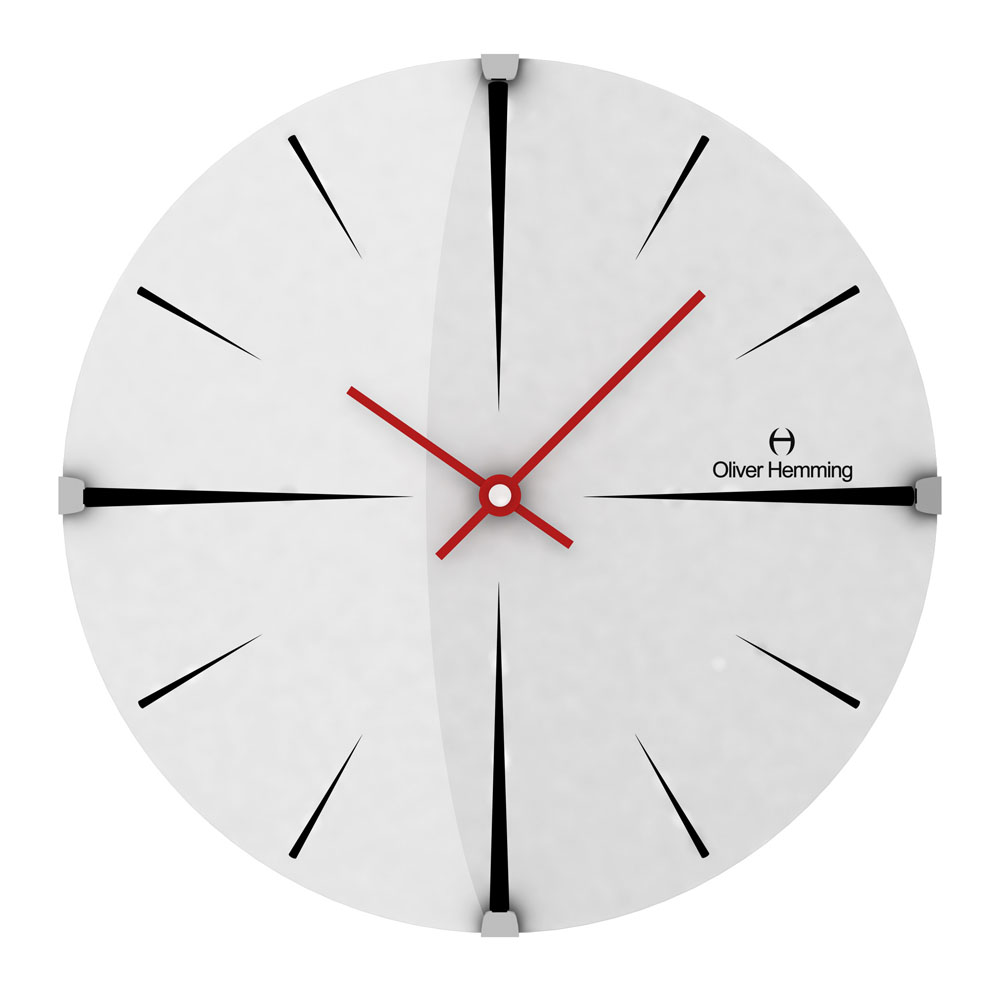 Buy Stroke 30cm Domed Glass Wall Clock Online Purely