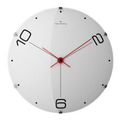 Ten and Two 50cm Round Wall Clock with Red Hands