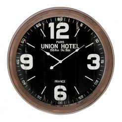 Round Large Wall Clock with White Hands