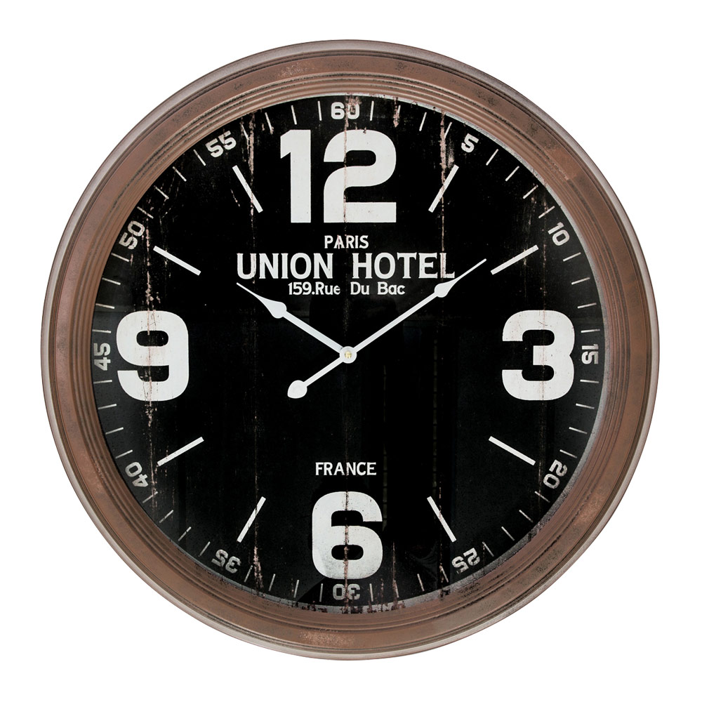 Buy Union Hotel Rustic Large Wall Clock Online Purely
