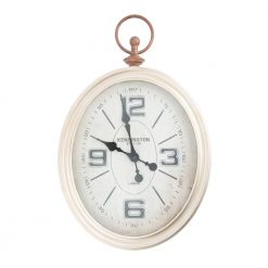 Antique Wall Clock with Black Hands