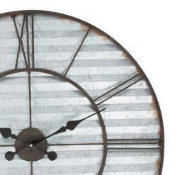 Zoomed in of Metal Wall Clock