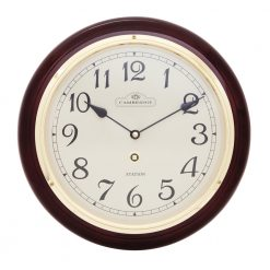 Round Large Wall Clock with Black Hands
