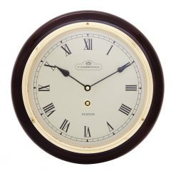 Round Black Large Wall Clock with Roman Numerals