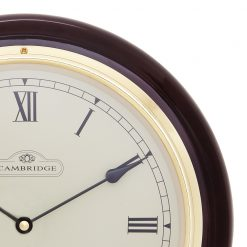 Close up of Round Large Wall Clock with Black Color