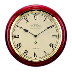 Round Red Small Wall Clock with Roman Numerals
