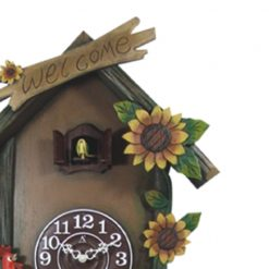 Zoomed in of Bird House Cuckoo Clock