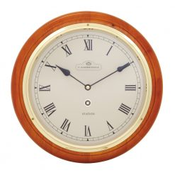 Round Orange Large Wall Clock with Roman Numerals