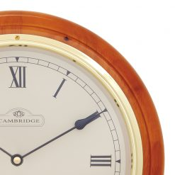 Close up of Wooden Large Wall Clock
