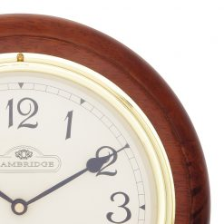 Close up of Round Winston Small Station wall Clock