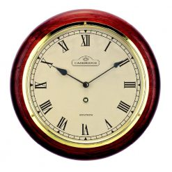 Round Small Station Wall Clock with Roman Numerals