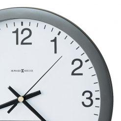 closedup metallic gray round wall clock
