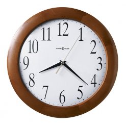 brown wooden round wall clock