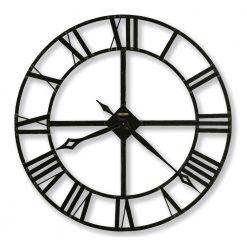 black and white iron wall clock