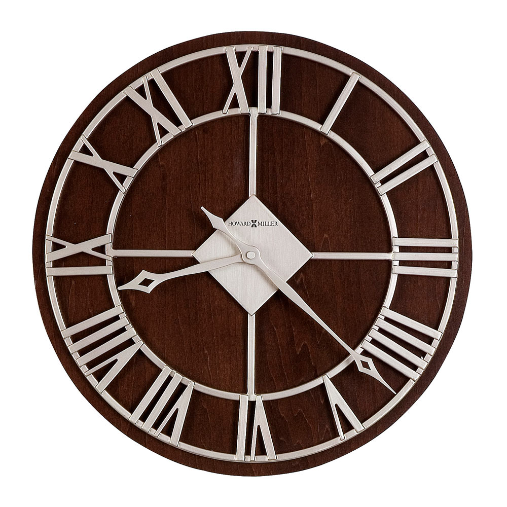 Buy prichard inch large wall clock online purely wall clocks - Large brushed nickel wall clock ...