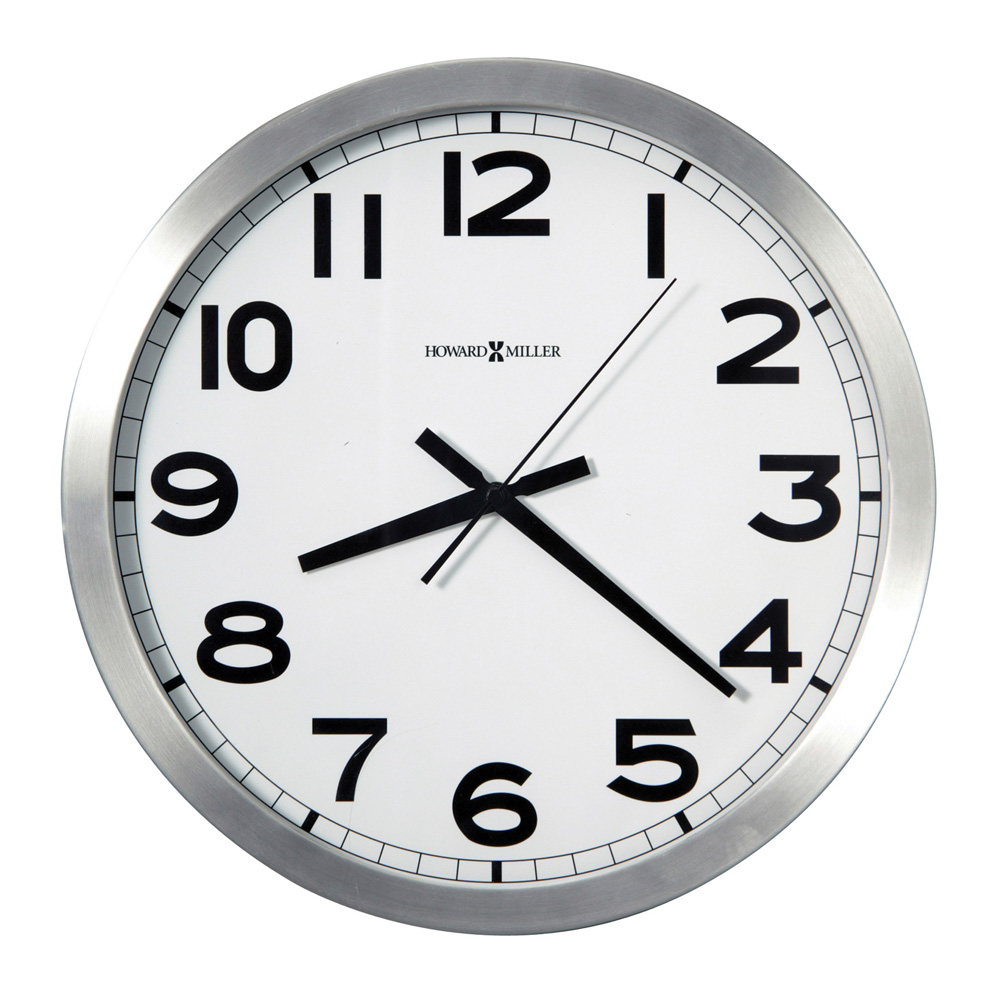 buy spokane brushed silvertone wall clock online purely