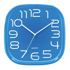 3d Blue Wall Clock with white hands