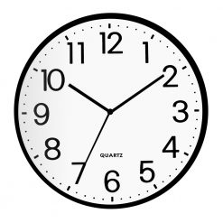 Round Classic School Wall Clock with black hand