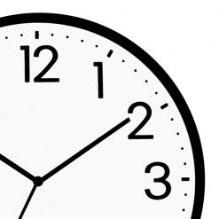 Zoomed in Classic School Wall Clock