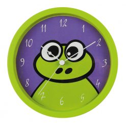 Round Freddie Frog Wall Clock with white hand