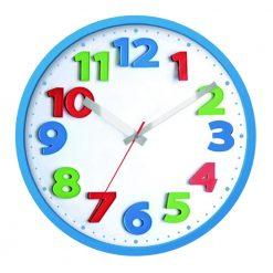 Round Kids Tri-Colour Wall Clock