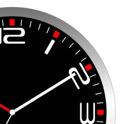 Zoomed in Modern Black Wall Clock